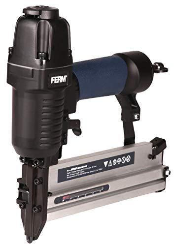 FERM Pneumatische Tacker – DIN/Orion - Weichen Griff – Inkl. 300 Nägeln und 100 Heftklammern