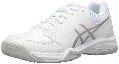 ASICS Women's Gel-Dedicate 5 Tennis Shoe, White/Silver, 11.5 M US