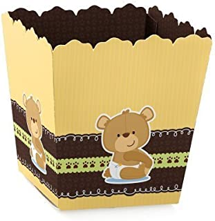 Baby Teddy Bear - Party Mini Favor Boxes - Baby Shower or Birthday Party Treat Candy Boxes - Set of 12
