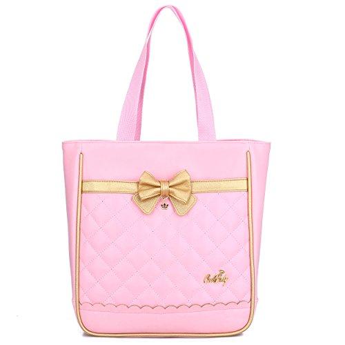 Cute Princess Lunch Bag for Girls Kids School Satchel Handbag (Pink -Handbag)