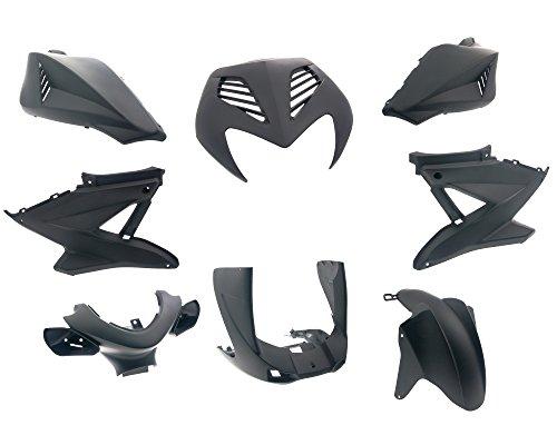 Verkleidungssatz Yamaha Aerox/MBK Nitro schwarz matt 8-teilig