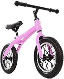 N&I Bicicleta de equilibrio de 12 pulgadas con manillar ajustable y manillar ligero de carbono de acero, sin pedales, para niños de 2 a 6 años.