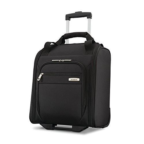 Samsonite Advena Softside Expandable Luggage with Spinner Wheels, Black, Underseater