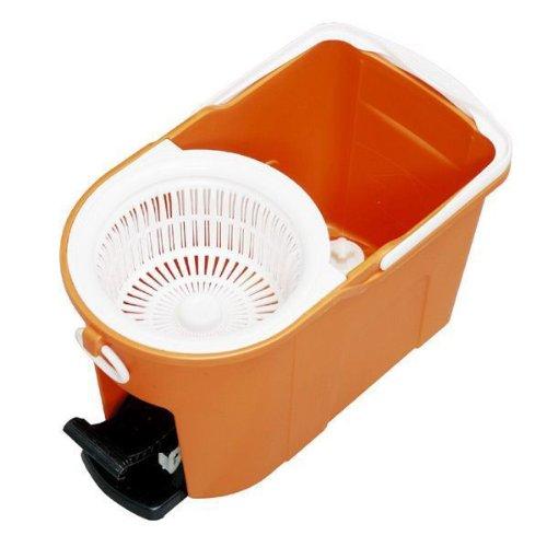 アイリスオーヤマ回転モップ足踏みタイプ本体バケツセットモップ洗浄機能付きKMO-490S
