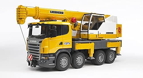 Bruder 03570 - Scania R-Serie Liebherr Kran-LKW mit Light and Sound Modul (inkl. Batterie)