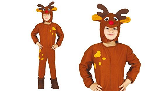 Guirma Costume da Renna Bambino 3-12 Anni (a Scelta)