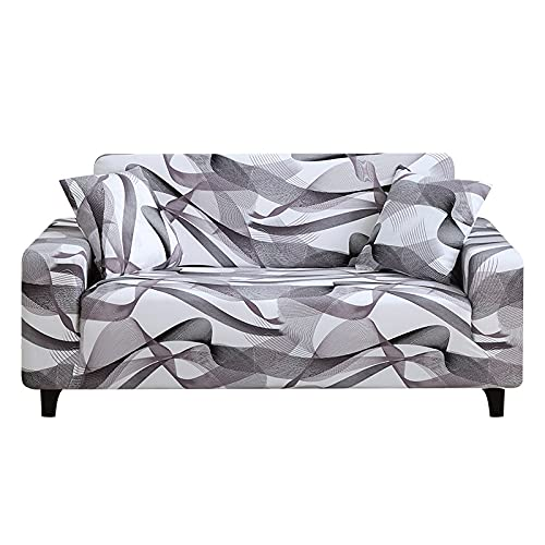 Elastic Sofa Cover Stretch Plaid Sofa Covers for Living Room Fully-Wrap Couch Chair Cover Armchair Anti-Dust Furniture Protector 145-185cm 6