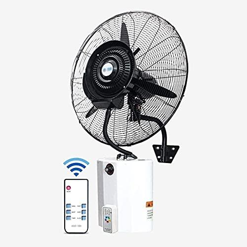 TOPNIU Ventilador de Pared montado en Pared montado en la Pared Ventilador de Pared de Aerosol Industrial con Control Remoto/ajustes de 3 velocidades/Tanque de Agua 12L (190W / 220W) (Size : 75cm)