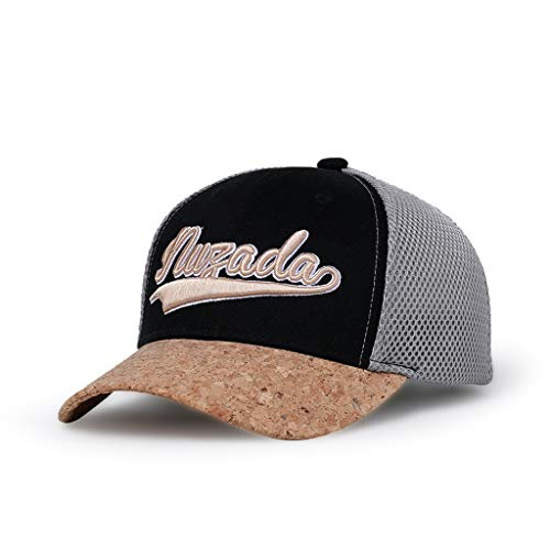 Find Bargain Hat Men's and Women's Baseball Cap Outside Letter Embroidery hat Stitching (Color : Bla...