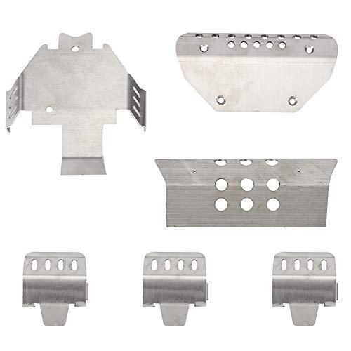 Fahrgestellplatte, Edelstahl-Fahrgestellschutzplattensatz Passend für das TRAXXAS TRX6 G63 RC-Automodell