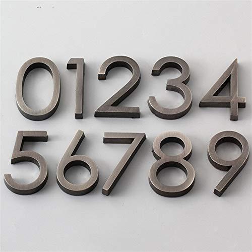Dígitos de la puerta 0 a 9 PLÁSTICO NÚMERO DE PLÁSTICA TAGA...