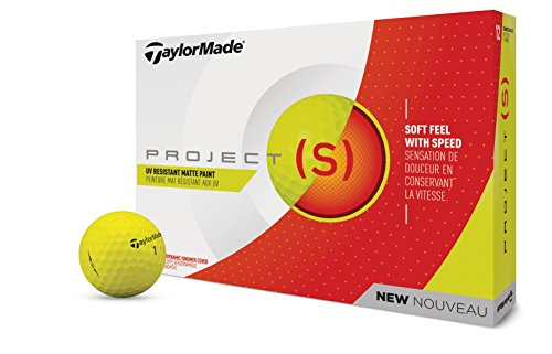 TaylorMade 2018 Project (s) Golf Ball, Matte Yellow (One Dozen)
