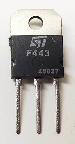 2 Stück SGSF443 NPN HIGH VOLT FAST POWER TRANSISTOR | 450V | 1000V | 8A | 115W | TO-218 | Compatible (same chip) to SGSF441/442 and TIPL763A