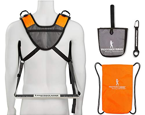 Piggyback Rider Scout Model - Child Toddler Carrier Backpack for Hiking Trails, Camping, Fitness Travel - Black