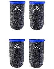 قفازات احترافية مضادة للعرق للاعبي المحترفين بتصميم اصابع اللعبة قابلة للتنفس ومقاومة للعرق وغطاء اصابع من اجل العاب الهاتف ببجي (لون ازرق)