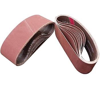 M-jump 20 PCS 3 x 21 Inch Sanding Belts | 400 Grit Aluminum Oxide Sanding Belt | Premium Sandpaper for Portable Belt Sander – 20 Pack