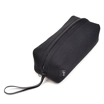 Cosmos Black Color Neoprene Watch and Bracelet Travel Storage Roll Bag with Black Removable Tube Velvet Holder