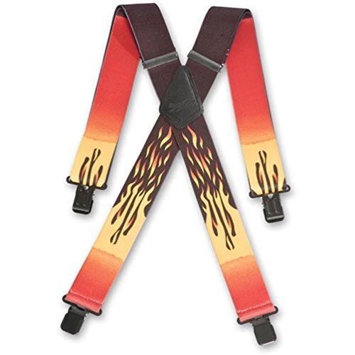 Brimarc Bretelles pour homme ultra-résistantes Motif flammes rouges 50 mm