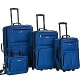 Rockland Journey Softside Upright Luggage Set, Blue