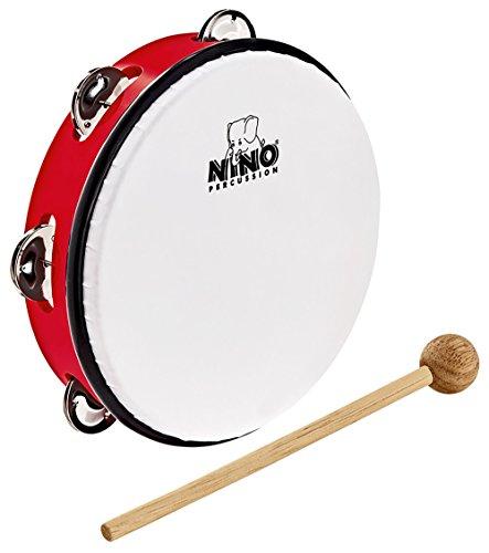 """NINO Percussion ABS Tambourine 8\"""" - Rot (NINO51R)"""