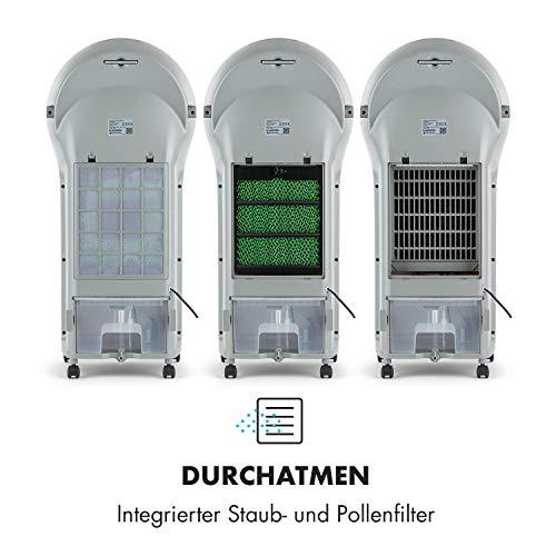 Klarstein Whirlwind - 3-in-1: Luftkühler, Ventilator, Luftbefeuchter, Luftumwälzung: 1600 m³/h, Wassertank: 5,5 Liter, Oszillation, 3 Geschwindigkeiten, 3 Betriebsmodi, Timer, leise, schwarz