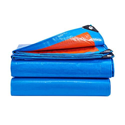 WEN Blue Rainproof Tarp Mehrzweckgewebte Polypropylen-Planenabdeckung Wasserdicht und UV-geschützt 180g / m² Markisen (Size : 4x5m)