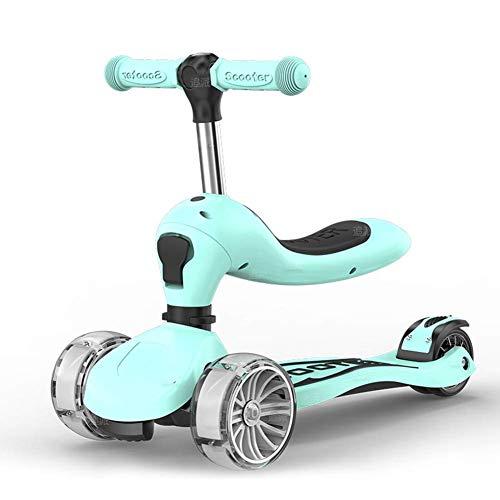 Pkfinrd Scooter met Uitneembare & Verstelbare Zitting, 3 Wielen Verstelbare Handgrepen Urban Scooter -Supports 165.35lbs Gewicht voor Jongens Meisjes Leeftijd 1-8