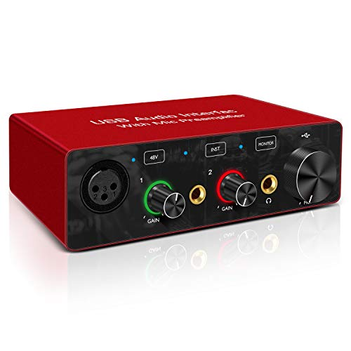 USB Audio Interface with Mic Preamplifier XRL...