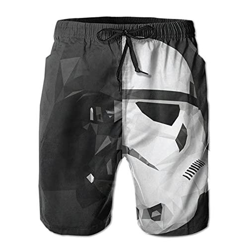 Hkdfjg Darth Vader Stormtrooper Baby Yoda Star The Wars Mandalorian - Pantalones cortos de natación para hombre, estilo informal, para surf, playa, verano, vacaciones, gimnasio, correr, correr