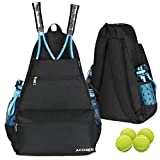ACOSEN Tennis Bag Tennis Backpack - Large Tennis Bags for Women and Men to Hold Tennis Racket,Pickleball Paddles, Badminton Racquet, Squash Racquet,Balls and Other Accessories (Black)