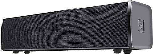 Barra de Sonido con conexión de Cable y el Altavoz inalámbrico Bluetooth con Control Remoto AUX estéreo 3D Surround de 30W Potente Sonido 2.1Channel para el Ordenador portátil PC de Escritorio Tablet