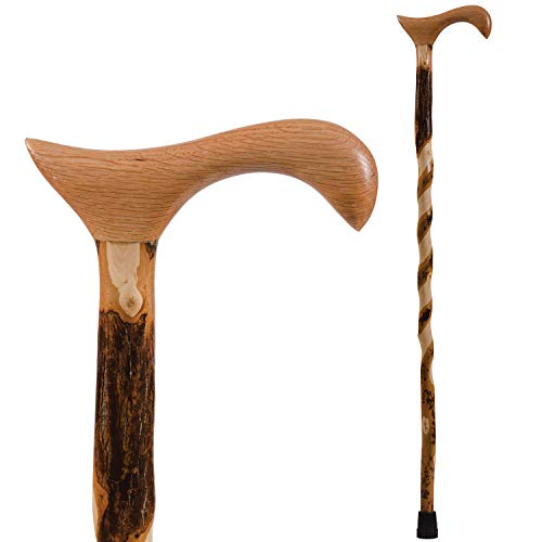 Walking Cane for Men and Women Handcrafted Lightweight Hickory Cane