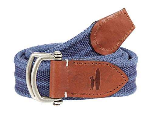 johnnie-O Brentwood Washed Canvas D-Ring Belt
