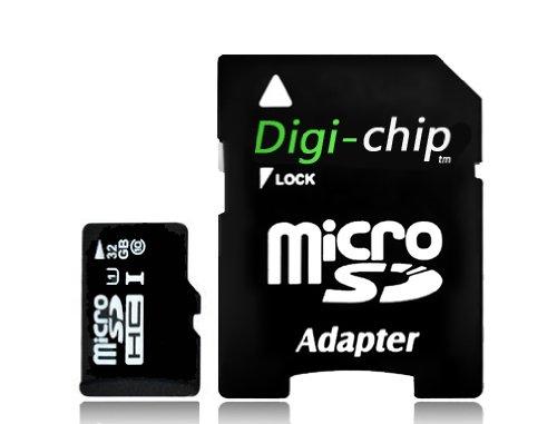 Digi-Chip 32GB Micro-SD Class 10 UHS-1 Speicherkarte für Motorola Razr M, Razr M Droid, Razr HD, Razr Droid HD, Razr Droid HD Maxx, Razr i, Razr D1, Razr D1 XT919