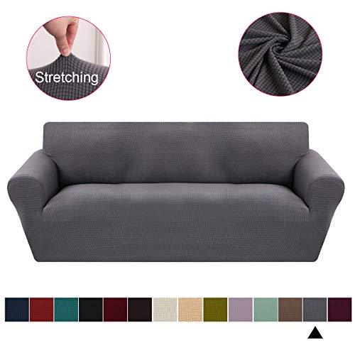KELUINA Funda de sofá Jacquard de Alto Estiramiento de 1 Pieza, Protector de Muebles Lavable con…