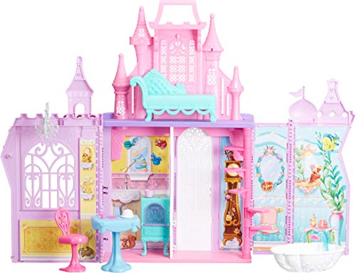 Disney Princess Pop-Up Palace, Castle Playset with Handle and 13 Accessories, 5 Rooms, 2 Feet Tall