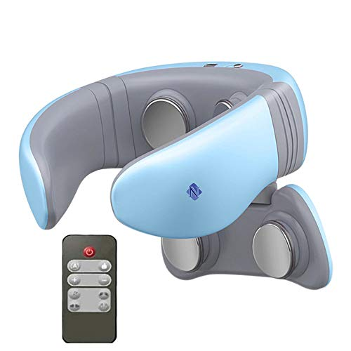 Noova Intelligent Neck and Shoulder Portable Massager with Heat, Smart Personal 4D Cordless Pulse Pain Relief Equipment with Remote Control, Best Gifts for Men Women Dad Mom Husband Wife