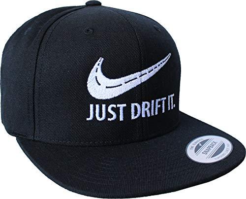 Petrolhead: Drift It - Cap für alle Tuning-, Drift-, und Motor-Sport Freunde - Classic Snapback Baseball Cap von Flexfit - Auto Tuner - Geschenk Auto-Merchandise Zubehör (Schwarz One Size)