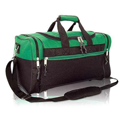 "17"" Blank Duffle Bag Duffel Bag Travel Size Sports Durable Gym Bag (Green)"