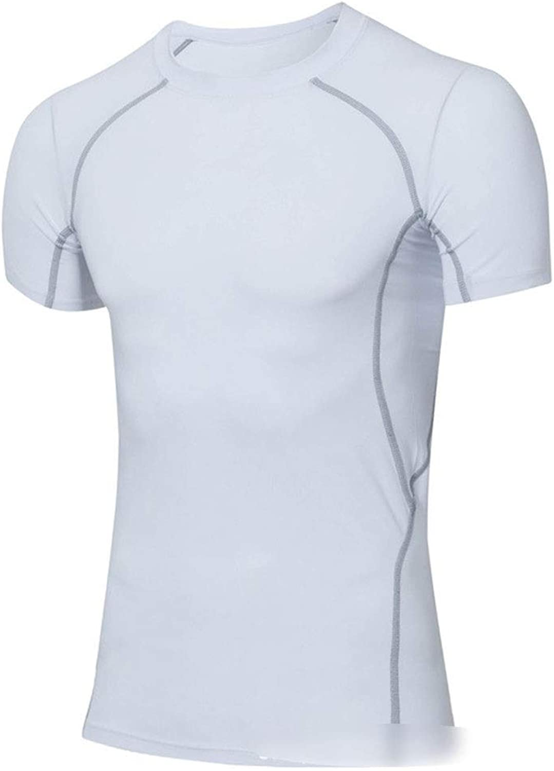 a136b0162f6ac KERVINJESSIE Short Sleeve Sports Shirts Mens Dry Dry Dry Fit T Shirts  Compression Shirts (color White, Size XL) 46a046