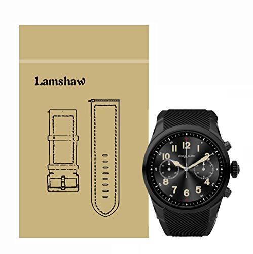 LvBU Sport Silikon Classic Ersatz Uhrenarmband Kompatibel Für Montblanc Summit 2 Smartwatch (Schwarz)