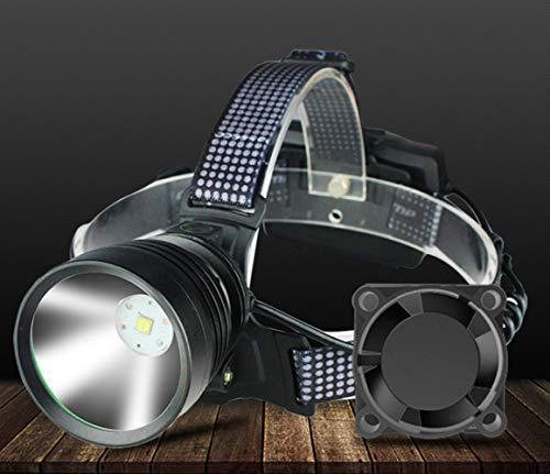 hehuanxiao LED Linternas Frontal Faros LED Enfriamiento Diversión Faros Lámpara Principal Linterna Antorcha Ion de Litio Recargable