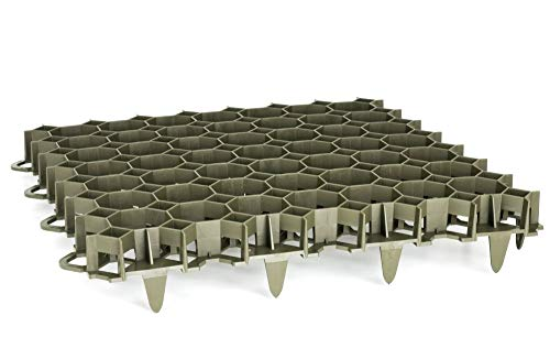 Rasengitterplatte Bodengitter Parkplatzunterbau +Zubehör (ca.49,2x49,2x3,9cm, Grün)
