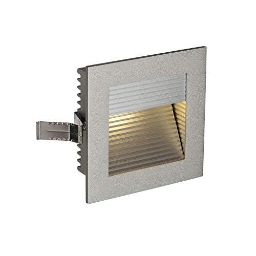 SLV LED Einbauleuchte Frame Curve   Wand- und Deckenleuchte zum Einbau   Eckig, Silber, 3000K Warmweiß   Stilvolle Wandleuchte, Einbau-Strahler LED Treppen-Beleuchtung, Stufen-Licht, Treppenlicht