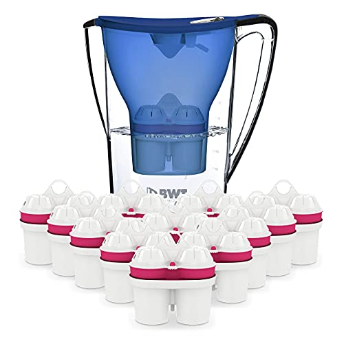 BWT Wasserfilter PENGUIN 2.7 l blau inkl. 13 Filterkartuschen   Optimaler Kalkschutz & mit Magnesium mineralisiertes Wasser   Jahres-Vorrat an Kartuschen