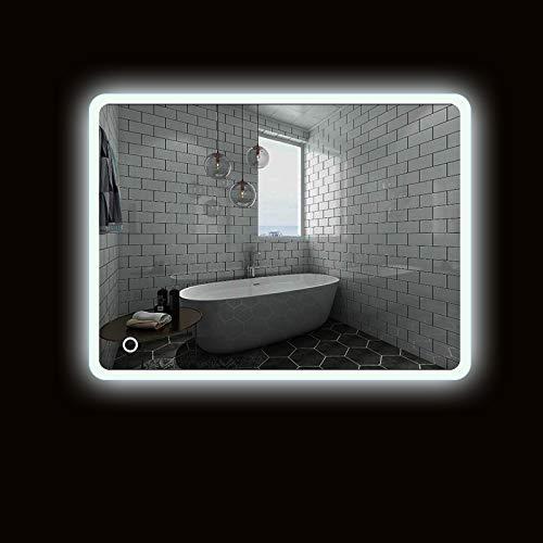 Turefans Incroyable Miroir de Salle de Bains, Interrupteur Tactile Miroir, Protection de l'environnement et économie d'énergie, Blanc 5050LED, Nouvell