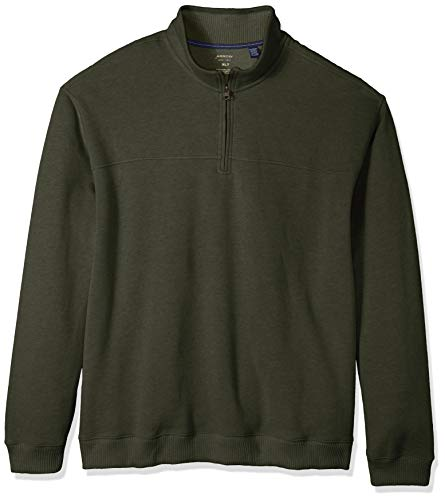Arrow 1851 Men's Big Saranac Long Sleeve 1/4 Zip Sueded Fleece Pullover, Deep Rosin Heather, X-Large Tall