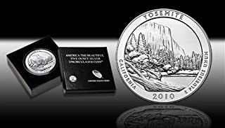2010 America the Beautiful 5 Ounce Silver-Yosemite NP