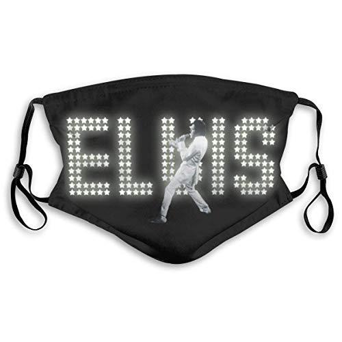 Mundschutz Sturmhaube Masken Elvis Aaron Presley Gesichtsschutz Kopftuch Nahtloser wiederverwendbarer Outdoor-Schal M Schwarz