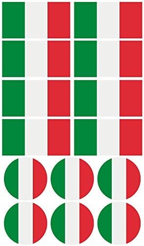 Haberdashery Online 28 Pegatinas de la Bandera de Italia. Stickers para Bicicletas, Motos, Accesorios (Italia)